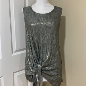Shiny top sleeveless nightclub / party  sz M